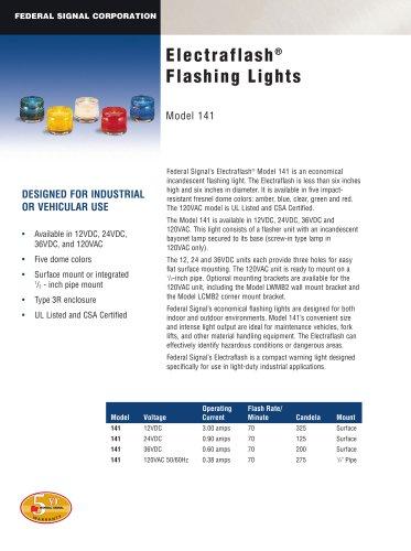 1Electraflash® Flashing Lights 141