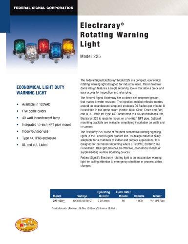 225 Electraray® Rotating Warning Light