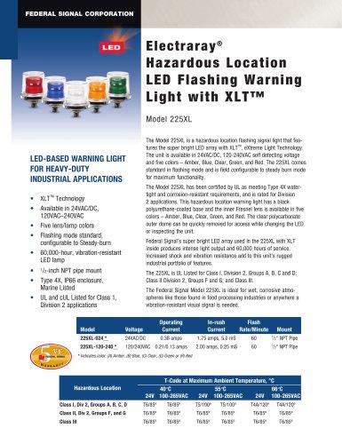 225XL Electraray® Hazardous Location LED Flashing Warning Light with XLT?