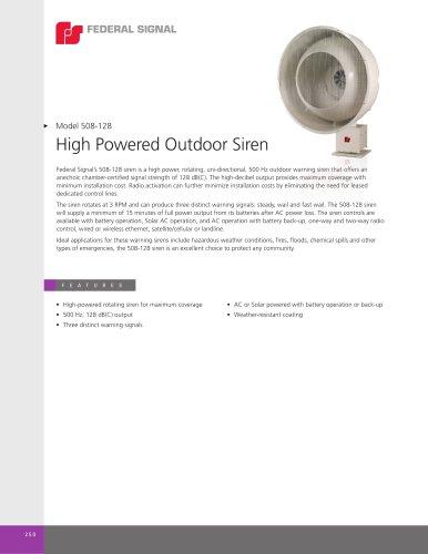 508-128 High-Powered Outdoor Siren