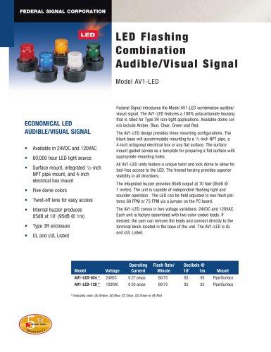 AV1-LED LED Flashing Combination Audible/Visual Signal