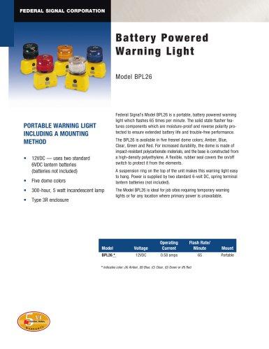 BPL26 Battery Powered Warning Light
