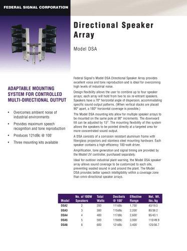 Directional Speaker Array DSA