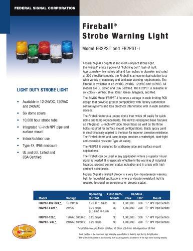 FB2PST?I Fireball® Strobe Warning Light