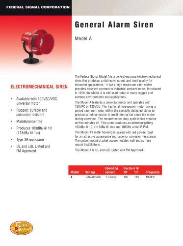 General Alarm Siren Model A