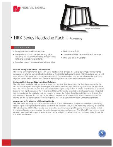 HRX Series Headache Rack