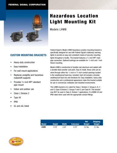 LHWB Hazardous Location Light Mounting Kit