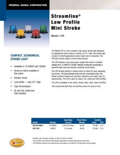 LP6 StreamLine® Low Profile Mini Strobe