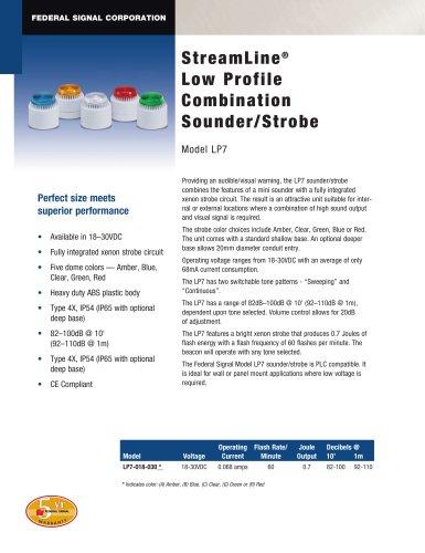 LP7 StreamLine® Low Profile Combination Sounder/Strobe