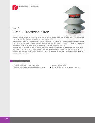 Model 2 Omni-Directional Siren