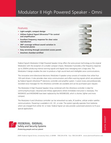 Modulator® II Electronic Siren Series
