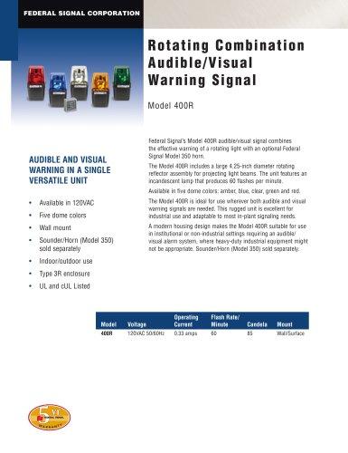 Rotating Combination Audible/Visual Warning Signal