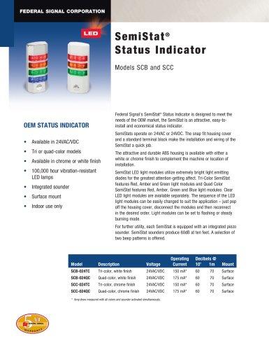 SCB SemiStat® Status Indicator