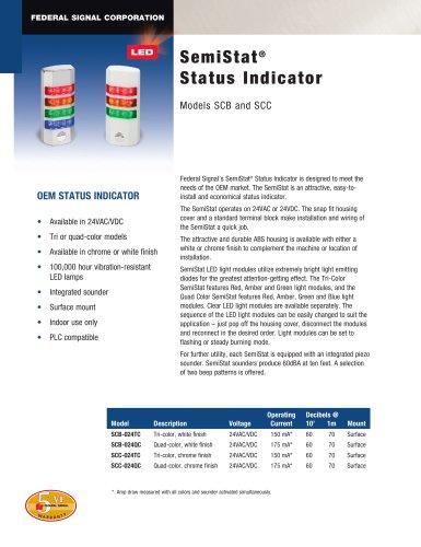 SCC SemiStat® Status Indicator