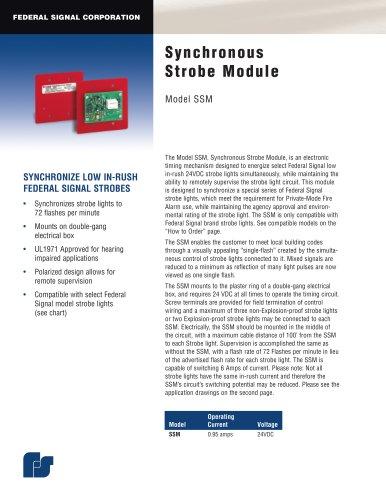 SSM Synchronous Strobe Module