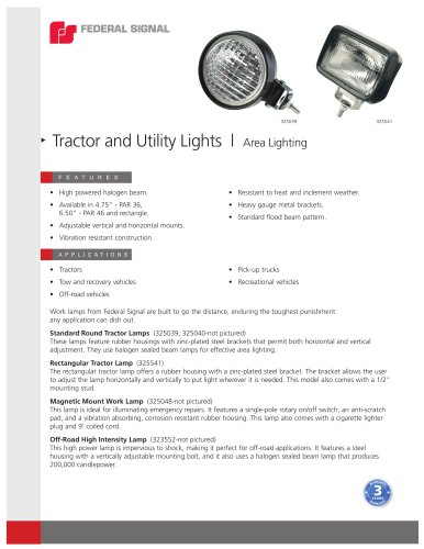 Tractor and Utility Lights