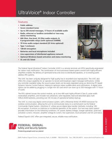 UVIC UltraVoice® Indoor Controller