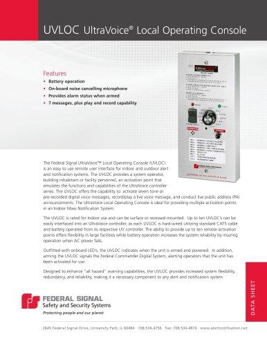 UVLOC UltraVoice® Local Operating Console