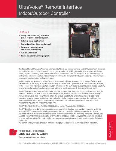 UVRI Ultravoice® Remote Interface