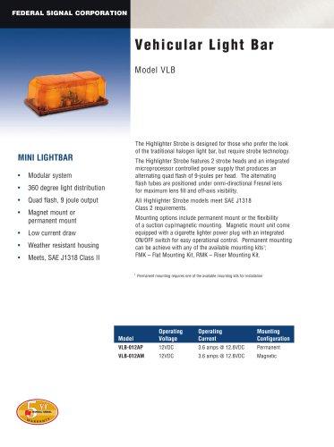 Vehicular Light Bar VLB