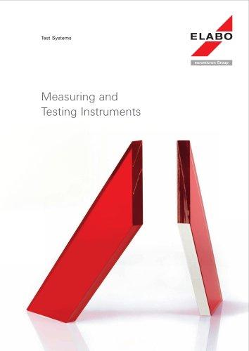 Elabo TestSystems ~ Measuring and Testing Instruments 2013
