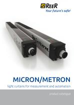 MICRON - METRON Light curtains for measurement and automation