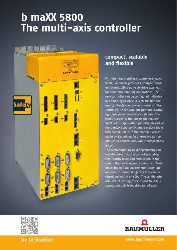 b maXX 5800 The multi-axis controller