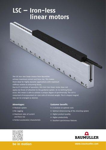 LSC — Iron-less linear motors