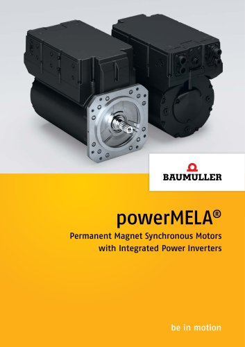 powerMELA® Permanent Magnet Synchronous Motors with Integrated Power Inverters