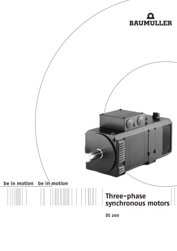 Three phase synchronous motors DS 200
