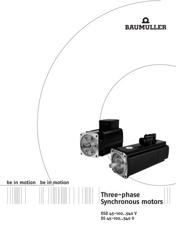 Three phase synchronous motors DSD 45-100, DS 45-100