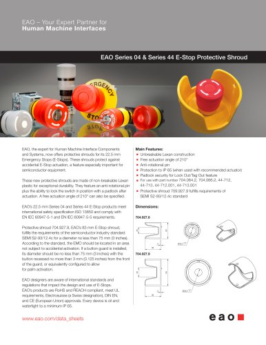 Series 04 / 44 - E-Stop Protective Shroud
