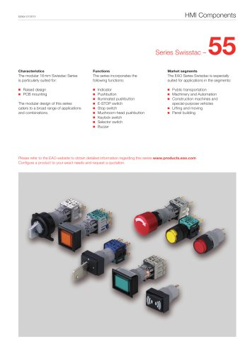 Series 55 Swisstac: Public transportation, Machinery and Automation, Construction machines and specialpurpose vehicles, Lifting and moving, Panel building