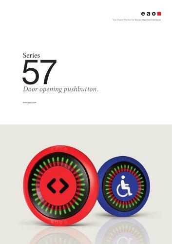 Series 57 - Door opening pushbutton