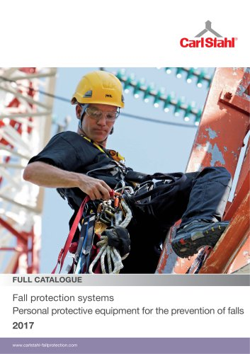Fall protection systems / Personal protective equipment for the prevention of falls 2017