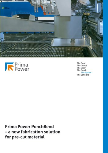 Prima Power PunchBend – a new fabrication solution for pre-cut material