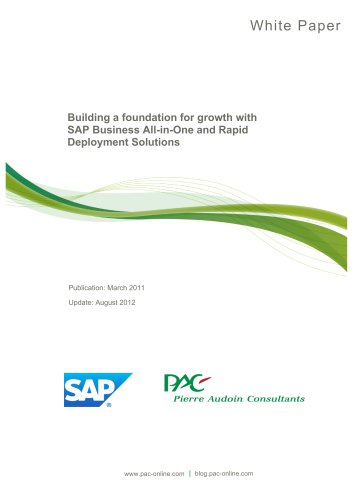 Building a foundation for growth with SAP Business All-in-One and Rapid Deployment Solutions