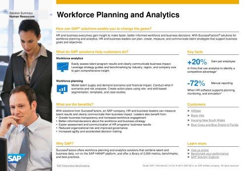 Workforce Planning and Analytics