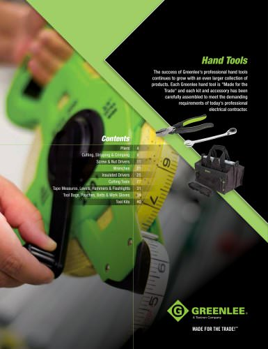Hand Tools: pages 3 to 40