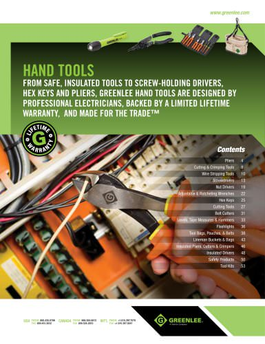 Hand tools: pages 3 to 53
