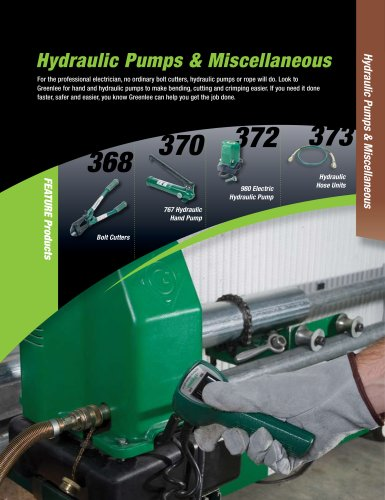 Hydraulic Pumps & Miscellaneous Catalog