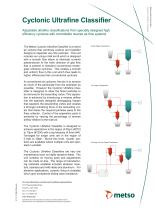 Cyclonic Ultrafine Classifier Technical Data Sheet - 1