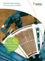 High Gradient Magnetic Separator (HGMS) Continuous Machines Brochure - 1
