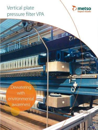 Vertical plate pressure filter VPA