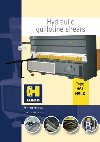 Hydraulic guillotine shears