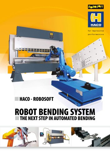 ROBOT BENDING SYSTEM  THE NEXT STEP IN AUTOMATED BENDING