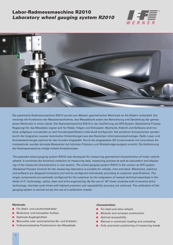 Laboratory wheel gauging system R2010