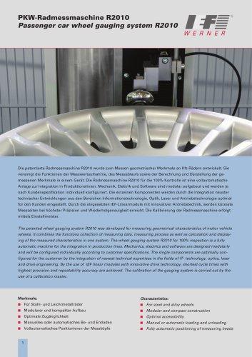 Passenger car wheel gauging system R2010
