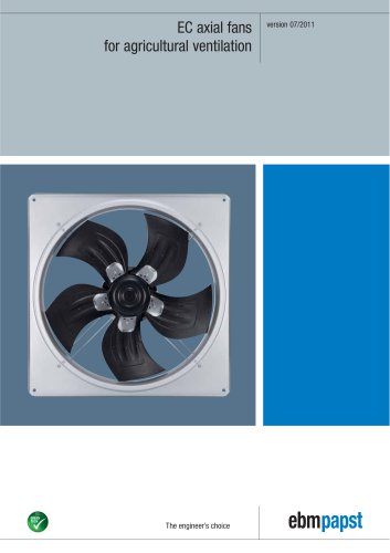 EC axial fans for agricultural ventilation