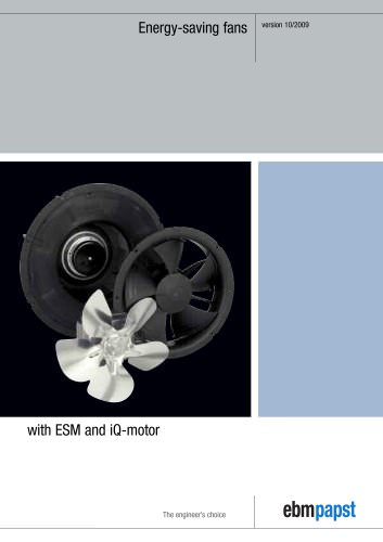 Energy-saving fans with ESM and iQ-motor